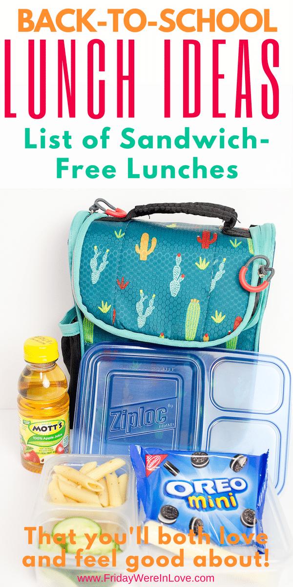 Kids School Lunch Ideas You'll Both Love