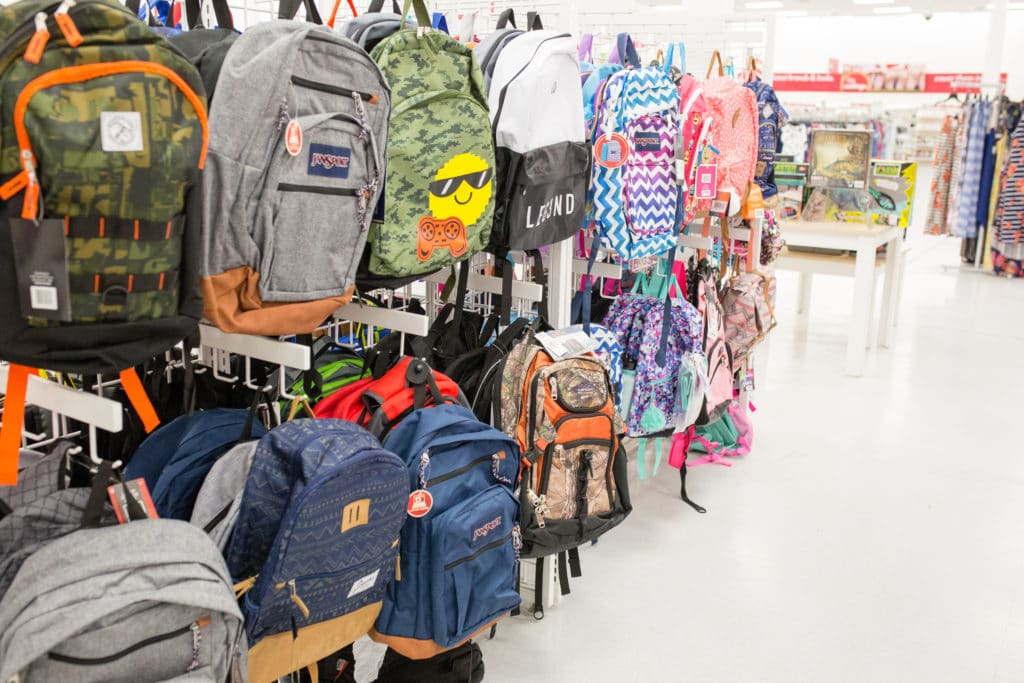 Back-to-school excitement with a new backpack