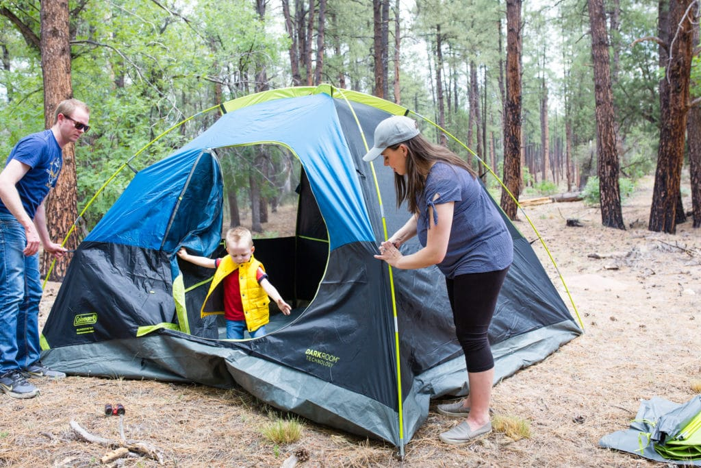Family camping trip the easy way!