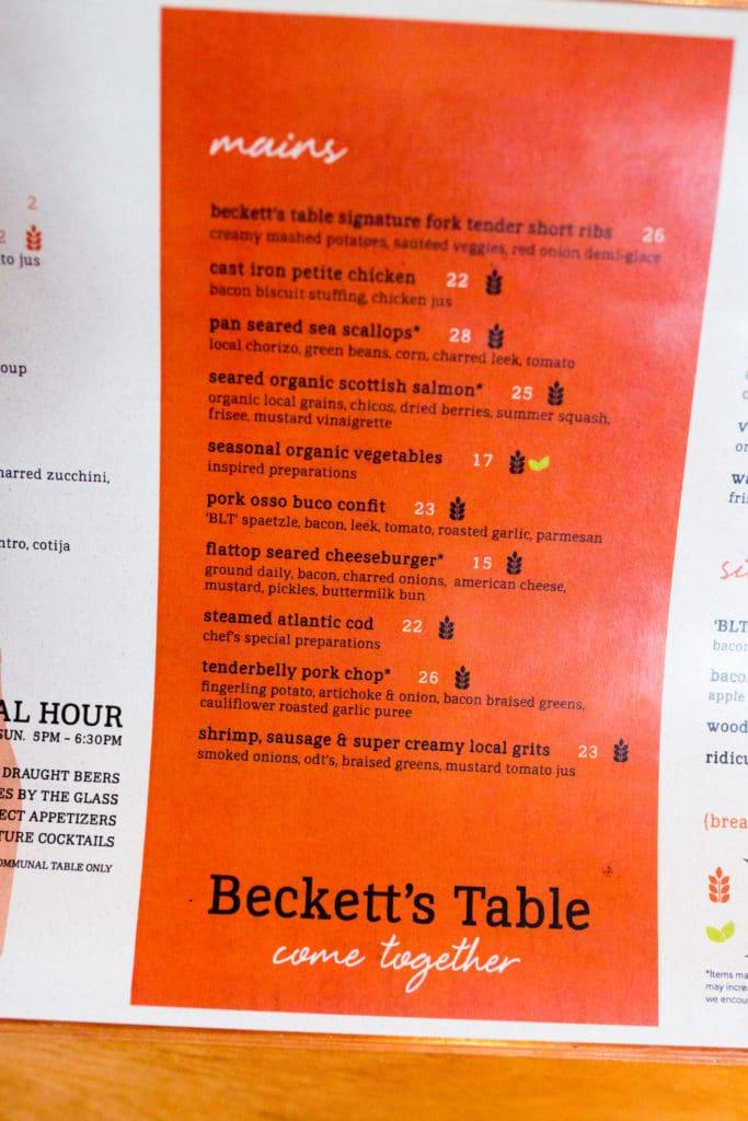 Beckett's Table Phoenix Review