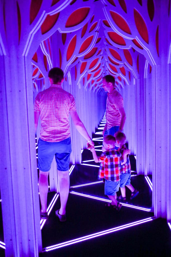 Family fun at the mirror maze