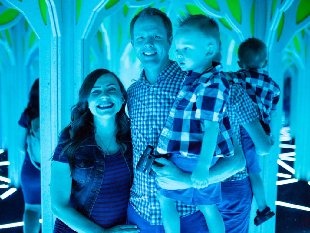 Mirror Maze Family date night