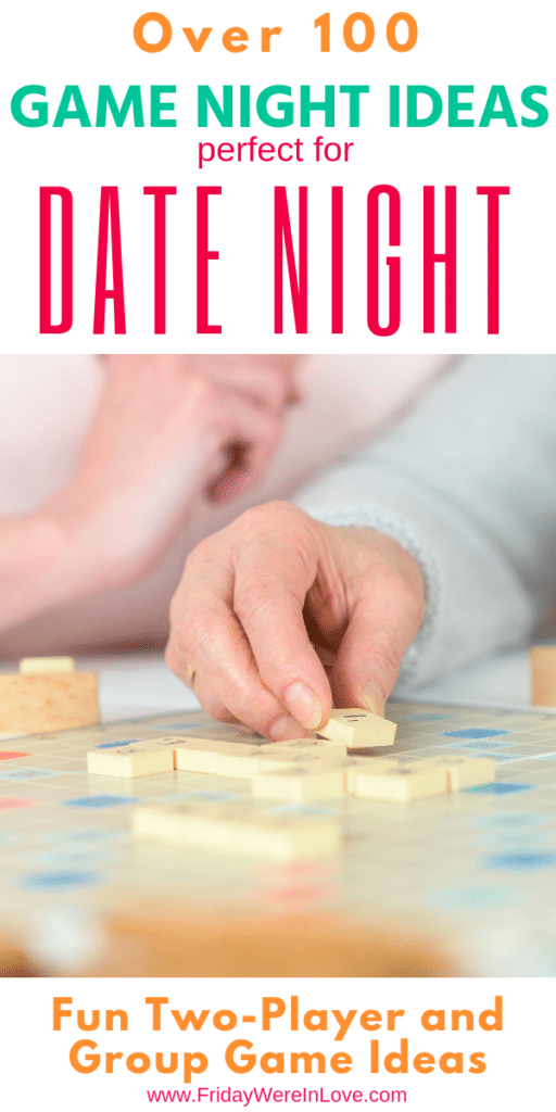 Couple games game night ideas for your next date night in! 2 player board games + group game ideas