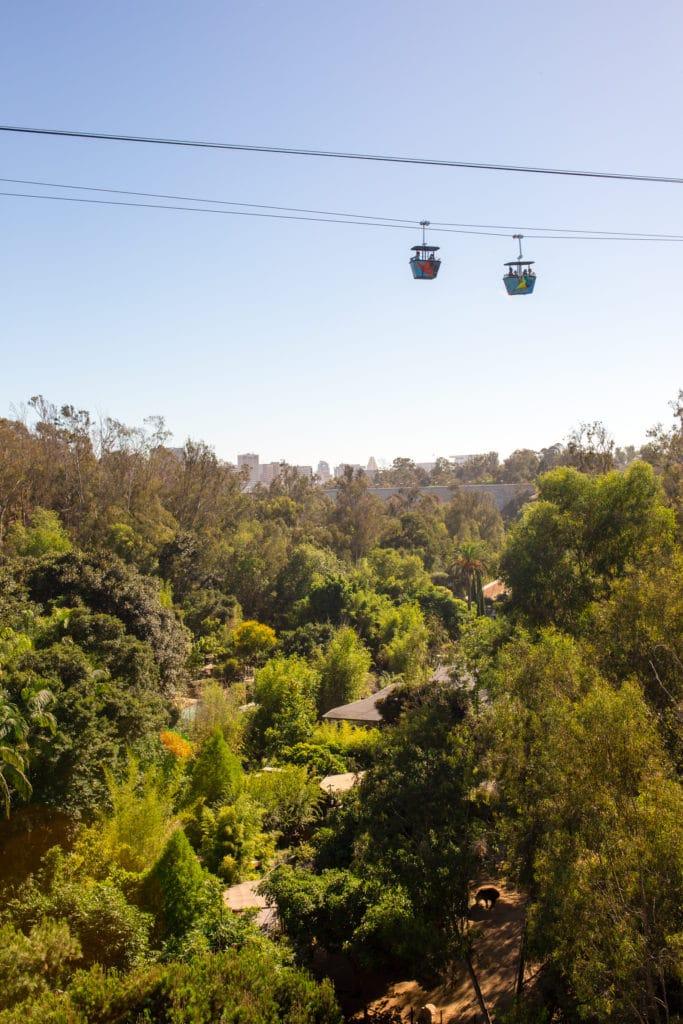 Skyfari sky ride San Diego Zoo
