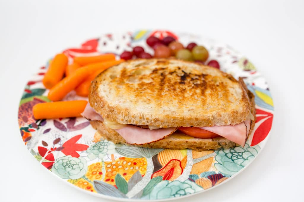 Ham and Swiss cheese panini recipe