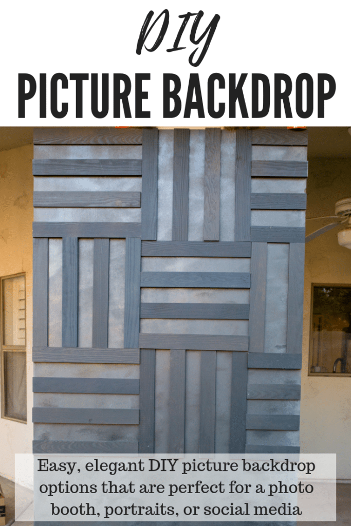 DIY Photo backdrop_ options that are perfect for a photo booth, portraits, or social media photography #lowespartner #ad
