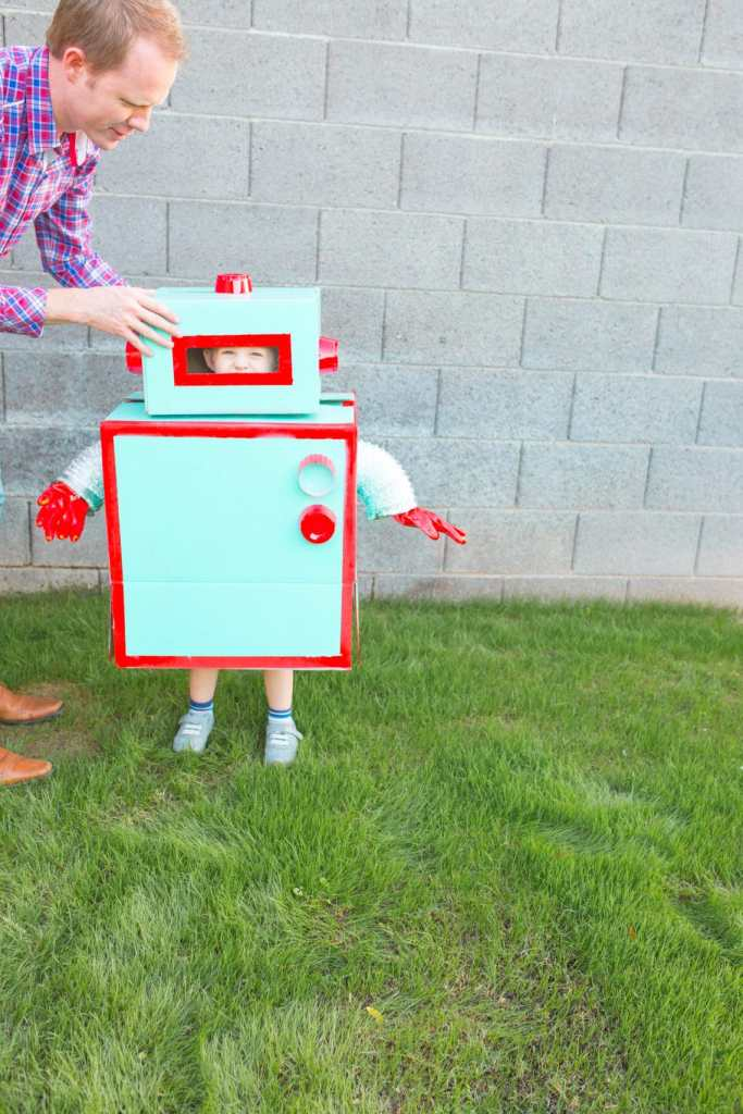 Robot Costume from a box