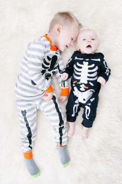 Skeleton pajamas for kids
