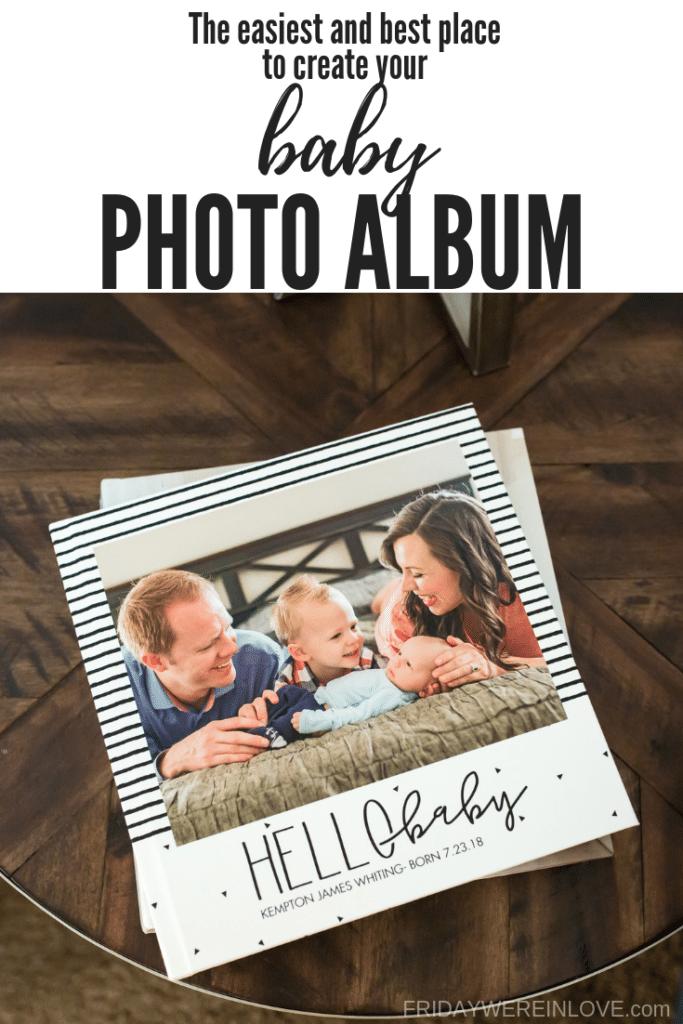 where to make a modern baby photo album
