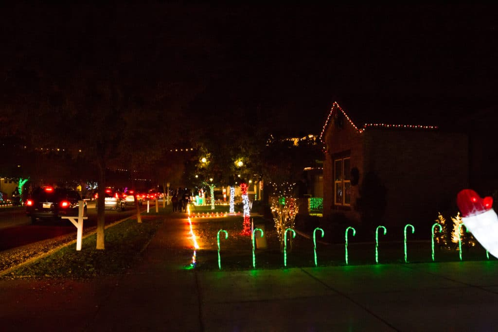 Christmas lights in Gilbert AZ
