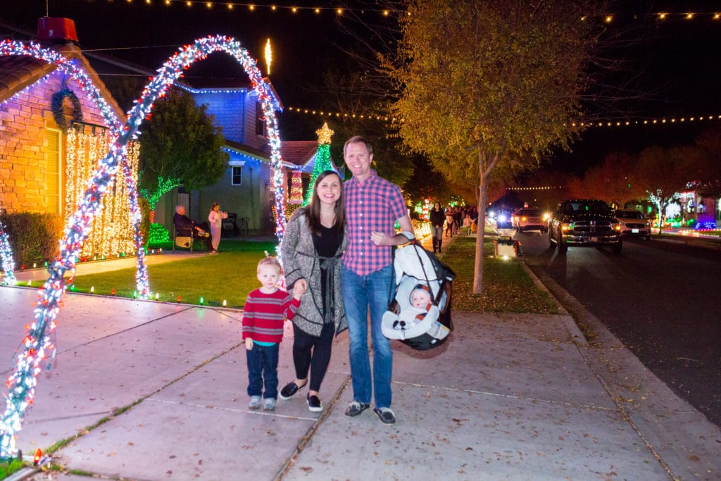 Christmas On Comstock Gilbert Az Light Show Information