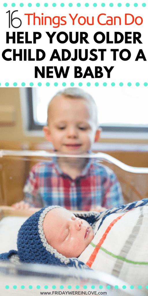 Helping your older child adjust to a new baby: Here are 16 ways to prepare your older child for a new sibling and make the transition easy for them #parenting #pregnancy