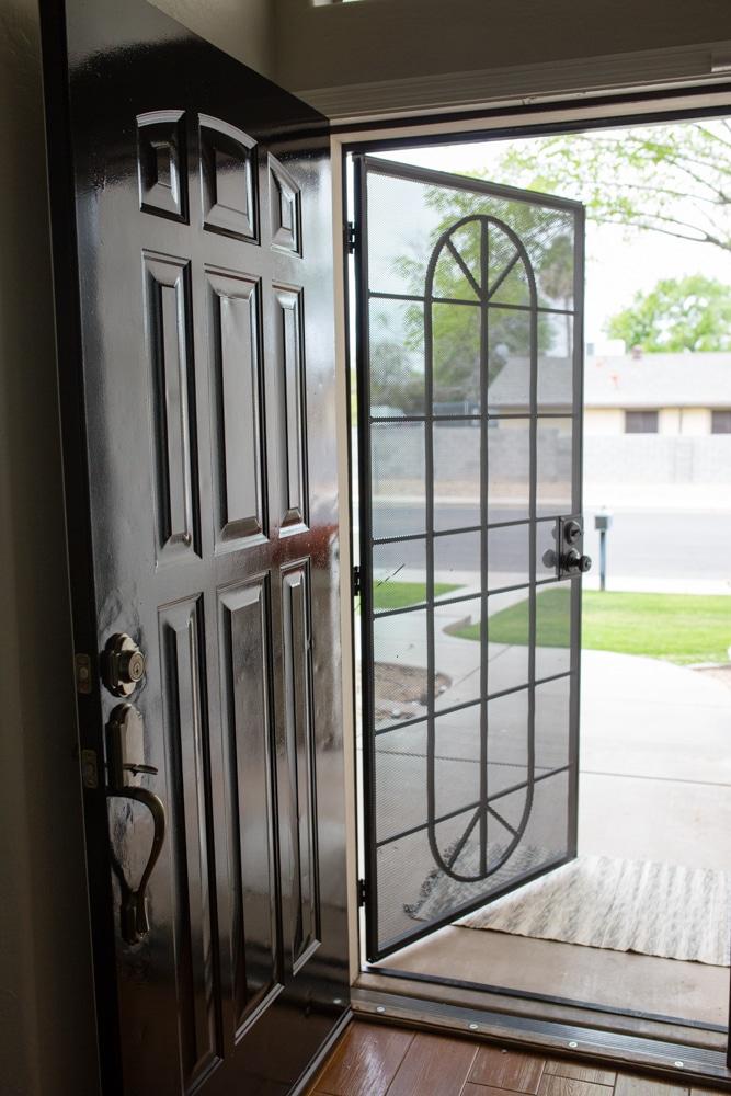 Black Front Door Makeover Tutorial