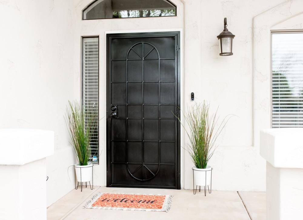 Front Door Makeover: DIY Spring Porch Refresh
