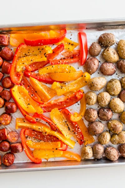 Sausage Peppers and Potatoes Sheet Pan Dinner