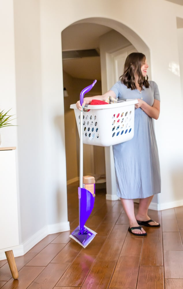 Keeping house clean with baby