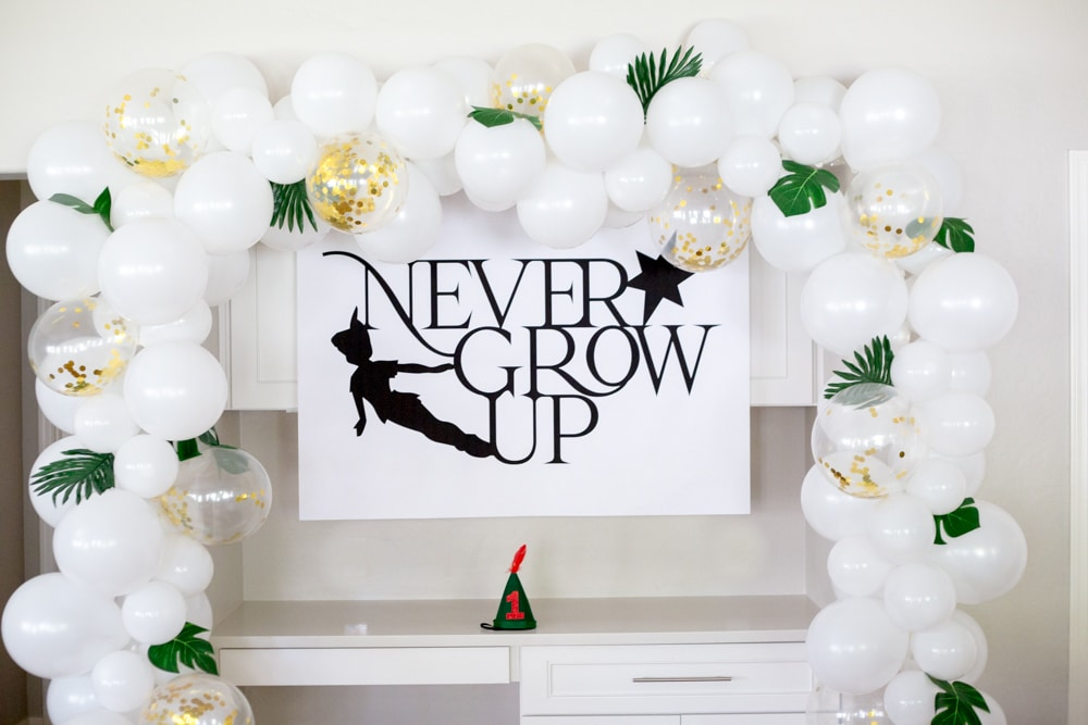 Never Grow Up Birthday Sign