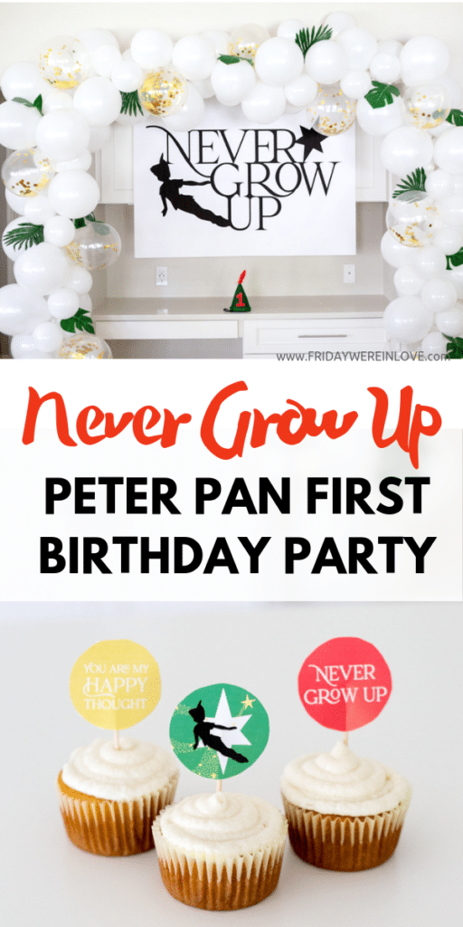 Never Grow Up Peter Pan Birthday Party