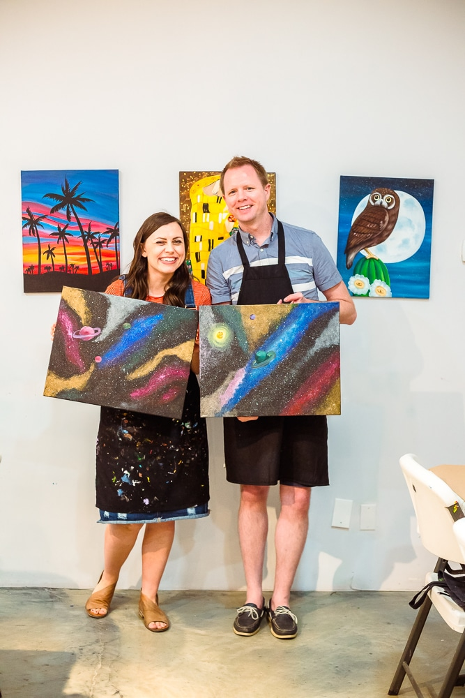 couples painting class