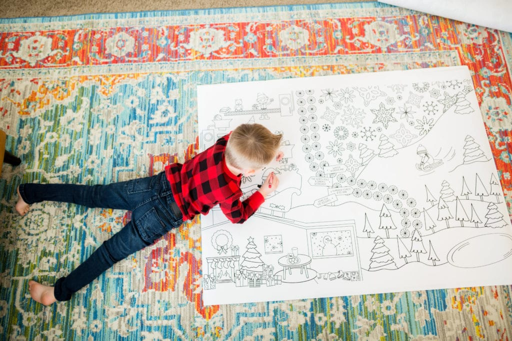 Giant holiday coloring pages