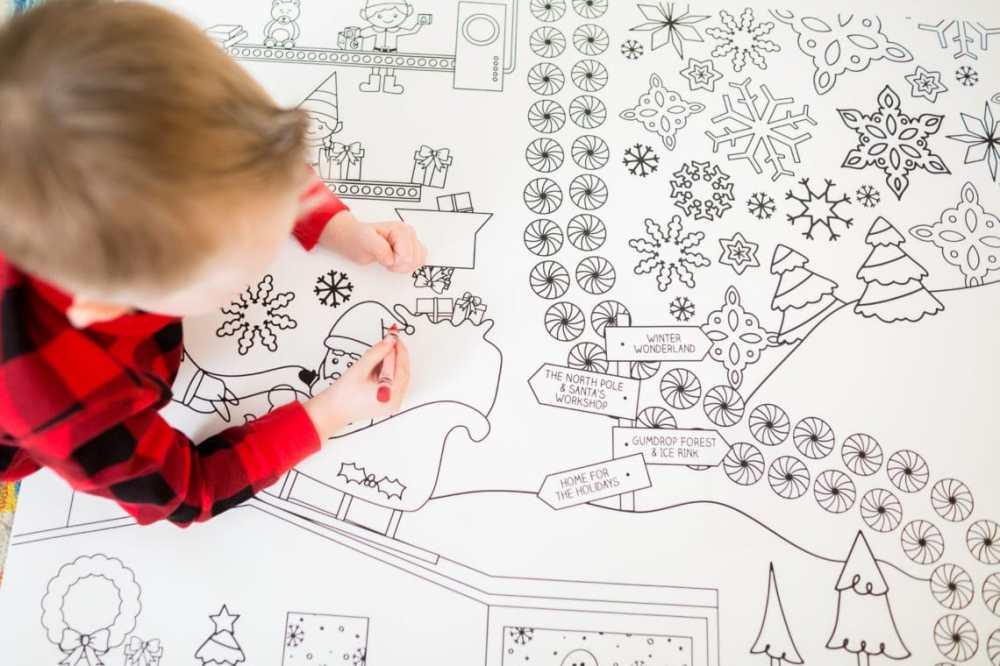 medium resolution of Holiday Coloring Pages: An Oversized Christmas Coloring Page Printable