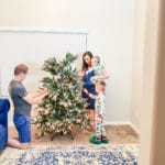 Decorating the tree family tradition