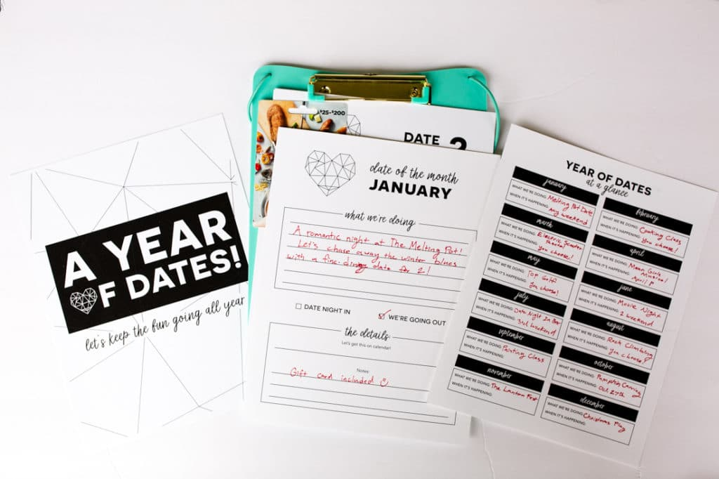 Date all year clipboard gift