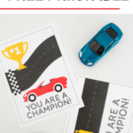 Race Car Valentine Cards Free Printable