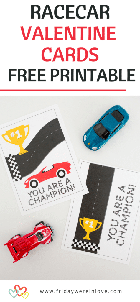 Racecar Valentine's Day Cards