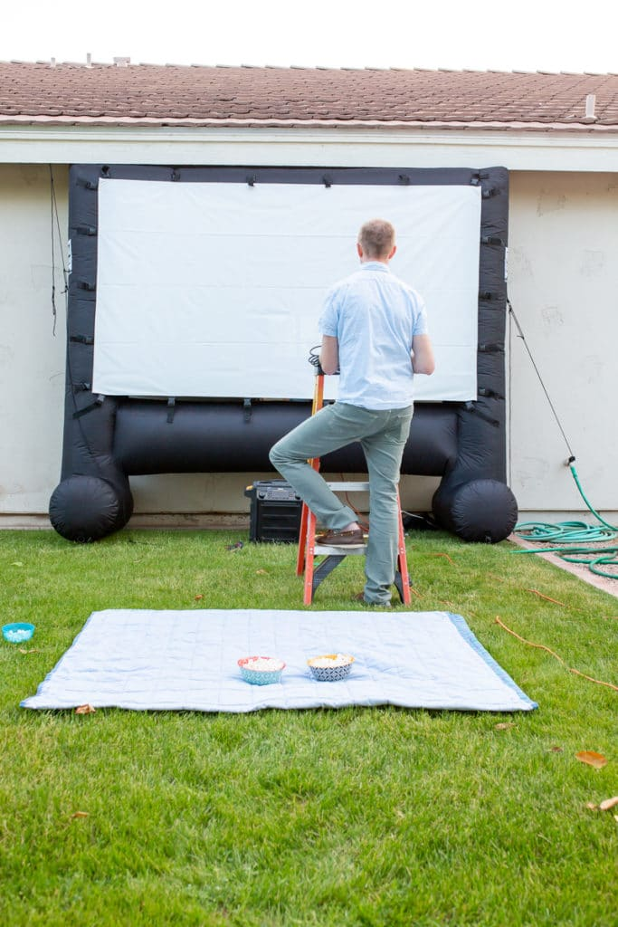 How to Create Your Own Outdoor Movie Theater