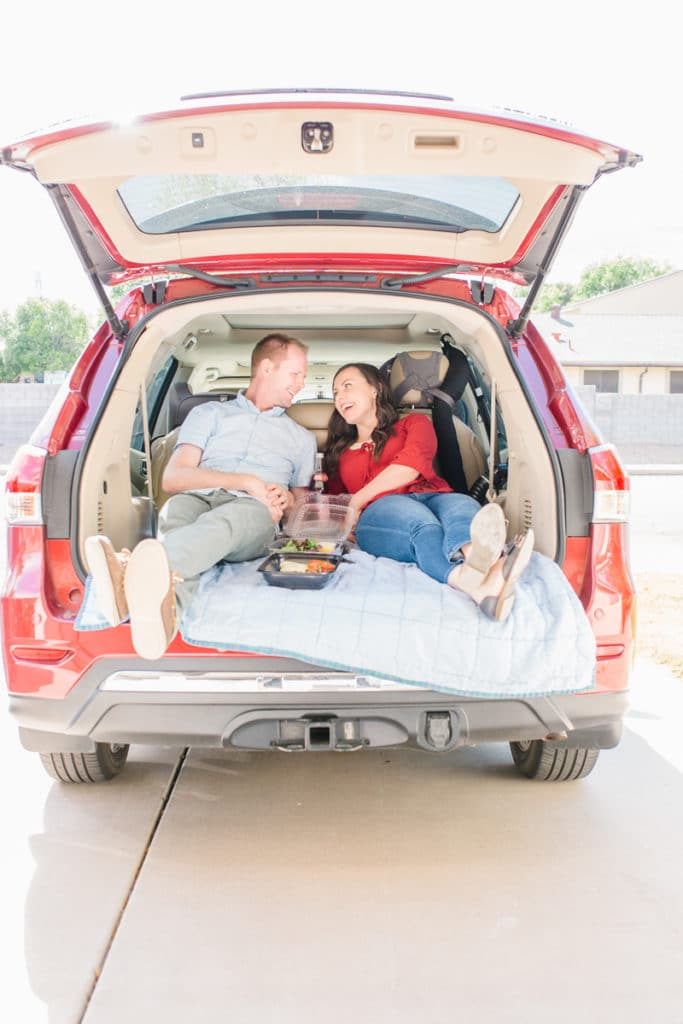 Car picnic date idea