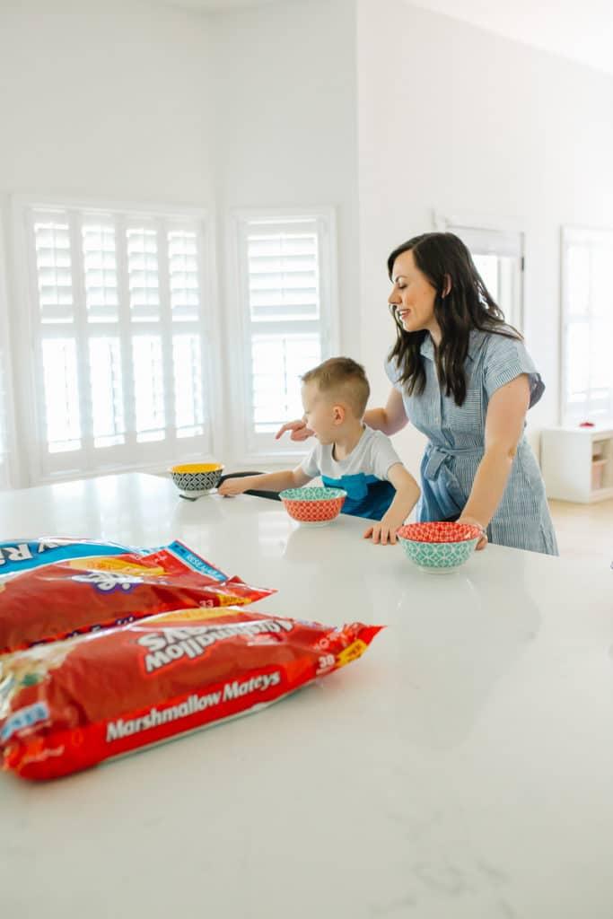 Mom hack: cereal for dinner