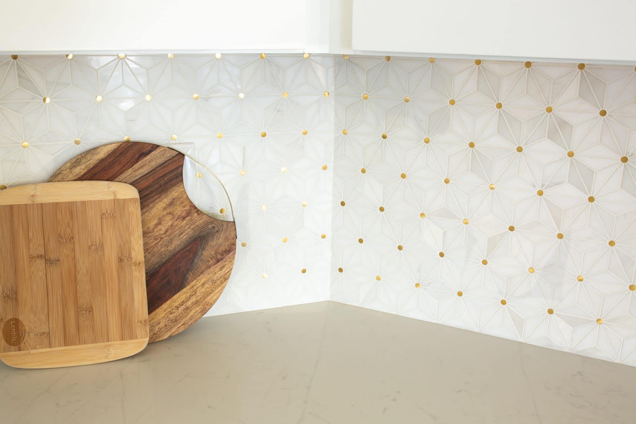 Kitchen Backsplash With White Cabinets Modern Reveal