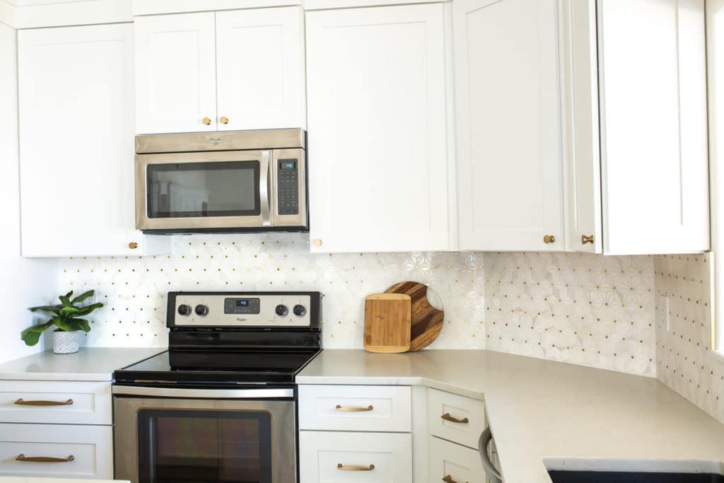 Mid Century Modern Glam Kitchen Remodel