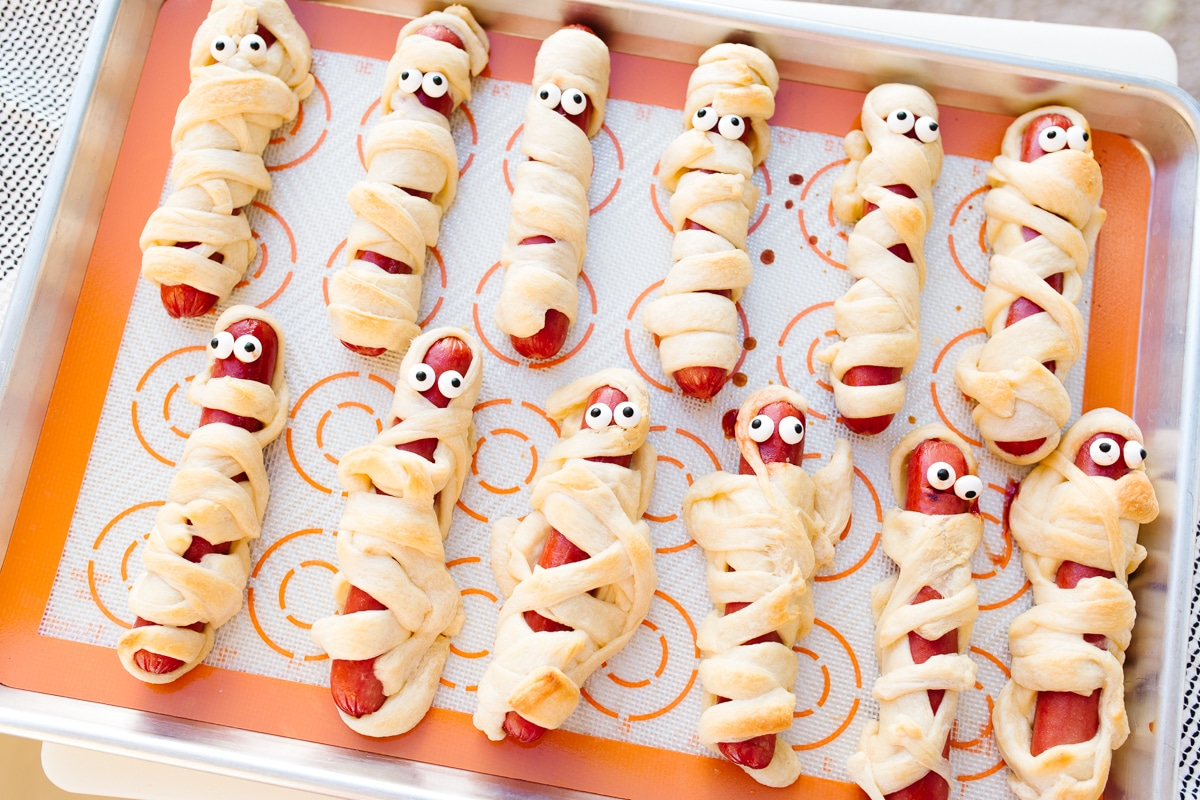 Mummy Halloween Hot Dogs