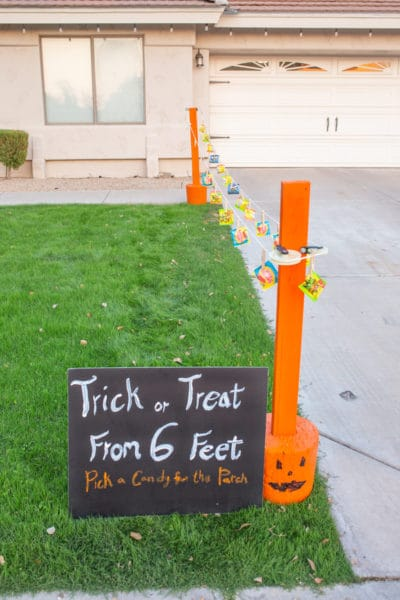 DIY Social Distanced Trick or Treat