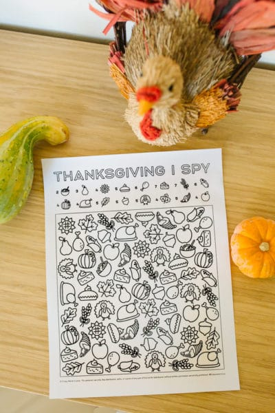 I Spy Thanksgiving Printable