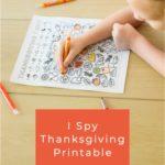 I Spy Thanksgiving Printable