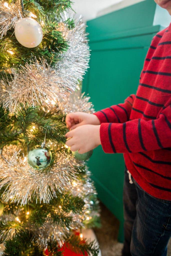 Christmas Tree in Kids Bedroom