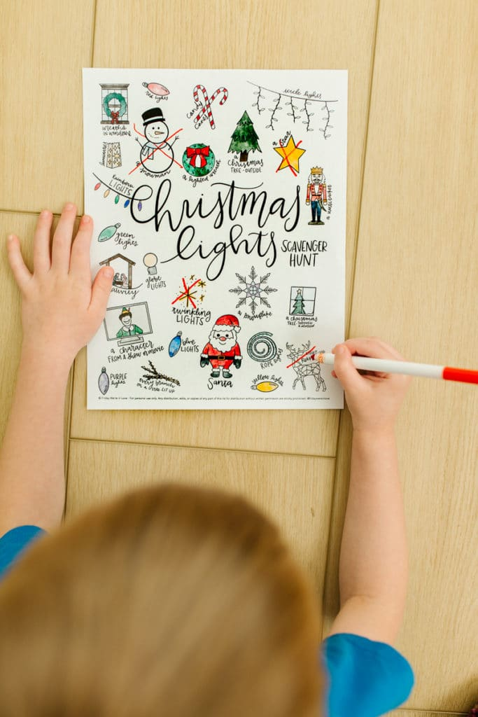 Christmas Lights Printable