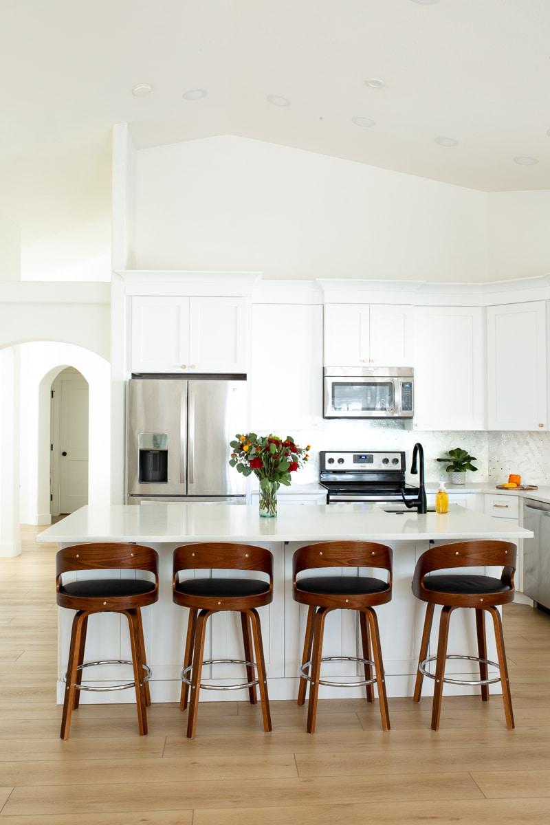 Mid Century Modern Glam Kitchen Remode
