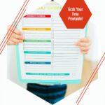 Chore Chart for Kids Printable