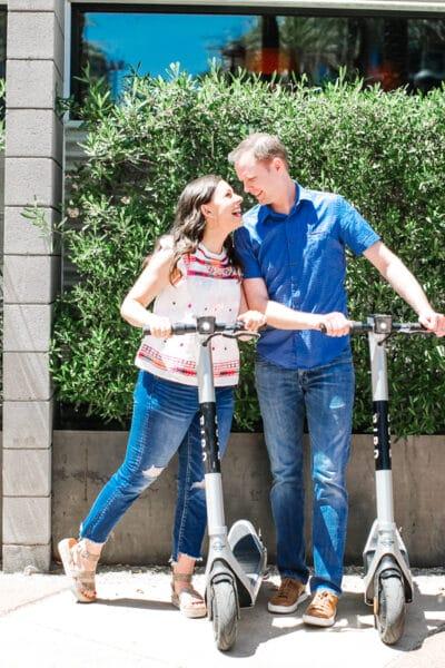 Electric Scooter Rental Date Night Idea