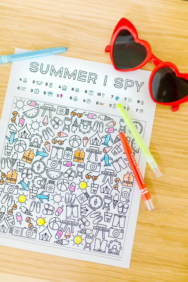 I Spy Summer Printable