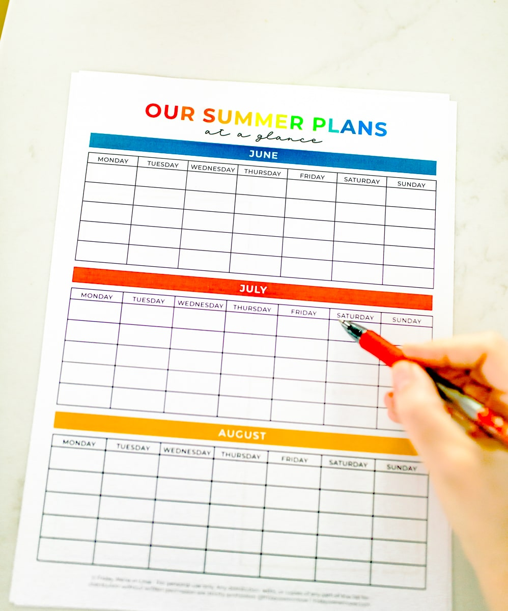 Summer Plans + Free Planner Template