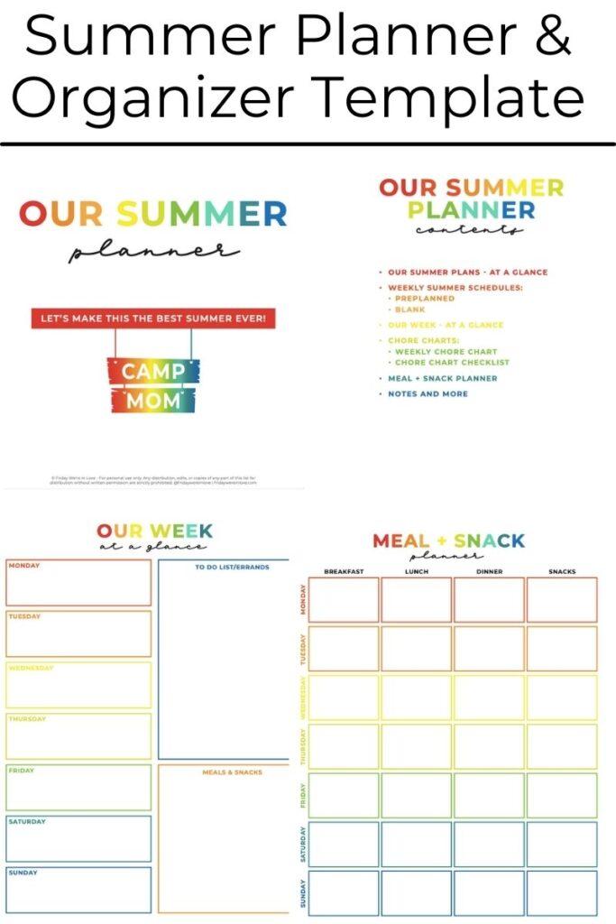 Summer Planner and Organizer
