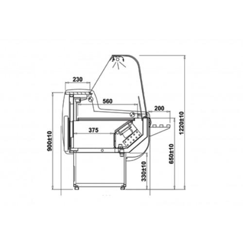Igloo Rota 200WD: 2m Deep Deck Delicatessen Serve Over Display