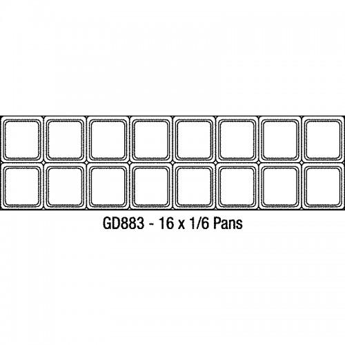 Polar GD883: JUMBO 2 Door Refrigerated Preparation Bench