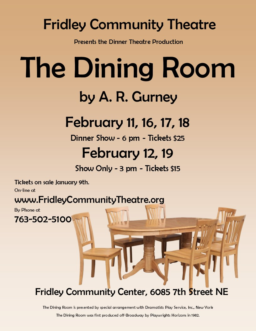 Dining Room Poster Web Version  Fridley Community Theatre