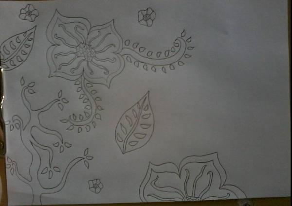 25 Contoh Sketsa Gambar Bunga Yang Mudah Digambar Classycloud Co